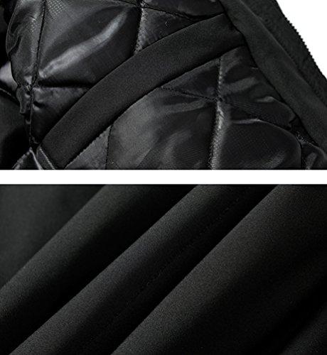 Antivento Casuale Maschile Cappuccio Grandi Imbottito Dimensioni Con Outwear Inverno Addensare Parka Zhiyuanan Caldo Lungo Piumino Nero qacAvg
