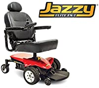 Pride Mobility - Jazzy Elite ES-1 - Front-Wheel Drive Power Chair - Jazzy Red