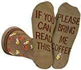 Best Gifts For Coffe Lovers - Saucey Socks Bring Me Coffee Socks (Medium) women Review