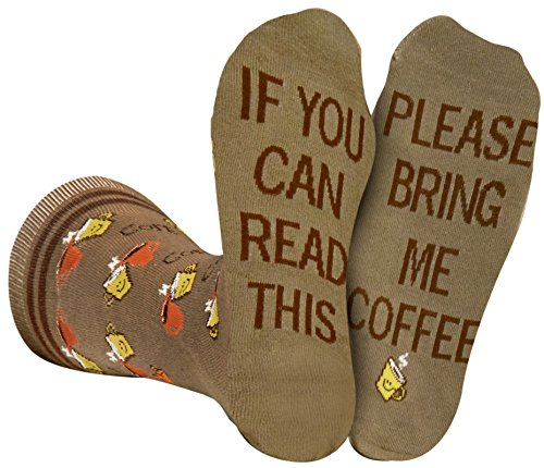 Saucey Socks Bring Me Coffee Socks (Large) men, luxury cotton, unique designs, Great Gift ()
