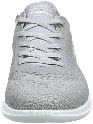 Lite Saavy Go Skechers Walk Baskets Femme Grey Gris dtqEExr