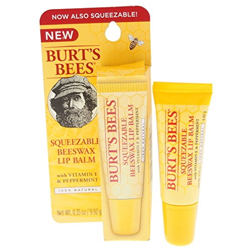 Burt's Bees Squeezable Beeswax Lip Balm for Unisex, 0.35 Ounce