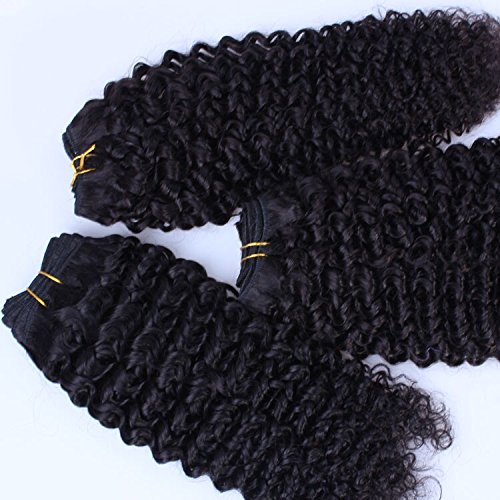 DaJun Hair European Virgin Human Hair Weave Kinky Curly 3pcs/lot 300gram Natural Colour (trademark:DaJun)