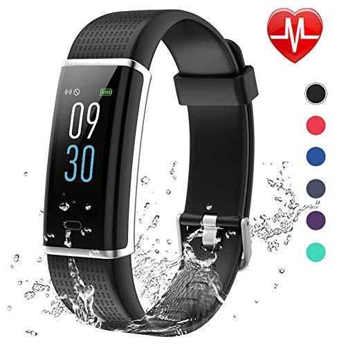Lintelek Fitness Tracker, Activity Color Screen Tracker with IP68...