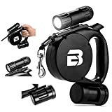 3 in 1 Retractable Dog Leash (With LED Light + Bag Dispenser) - These Durable, Thick & Adjustable 15 Foot Leashes are The Best for Training, Walking, Jogging- Small, Medium, or Large, Strong Dogs …