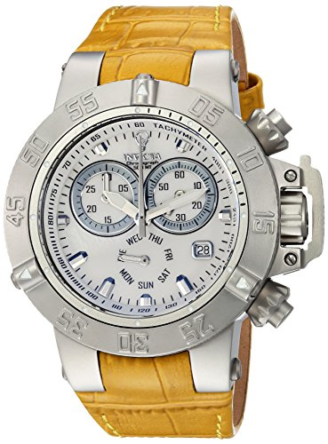 Invicta Women's 'Gabrielle Union' Quartz Stainless Steel and Leather Casual Watch, Color:Beige (Model: 23172)
