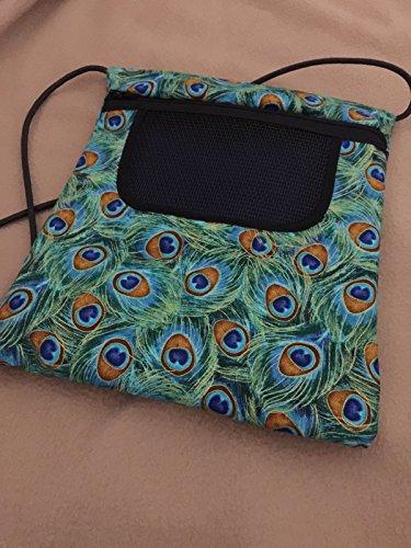 Sugar Glider Bonding Pouch Bag 8 X 9 Peacock Seamless