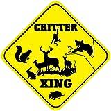 BBHUHU Critter Crossing Funny Metal Aluminum Novelty Sign