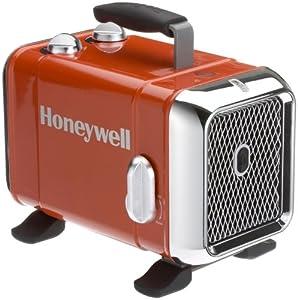 Honeywell HZ-510E Keramik-Heizlüfter in rot/Chrom, 1100/1800 Watt breiter...