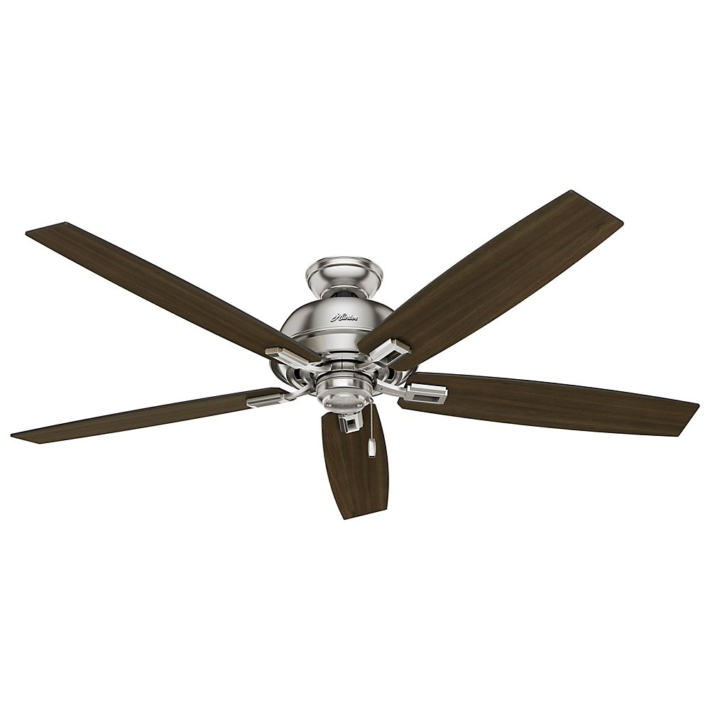 Hunter 54172 60 donegan ceiling fan with light brushed nickel hunter 54172 60 donegan ceiling fan with light brushed nickel amazon aloadofball Image collections