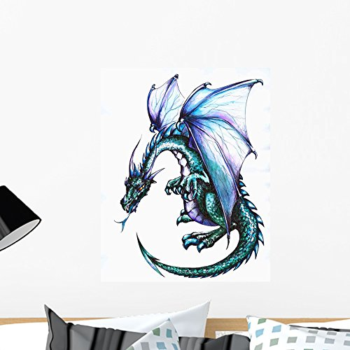 - Wallmonkeys Dragon Wall Decal Peel and Stick Graphic WM117867 (24 in H x 18 in W)