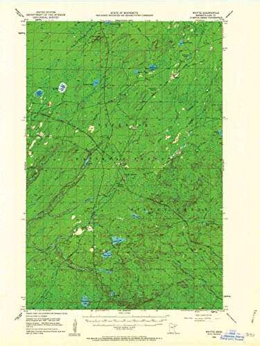 YellowMaps Whyte MN topo map, 1:62500 Scale, 15 X 15 Minute, Historical, 1953, Updated 1962, 27.23 x 21.53 in - Tyvek