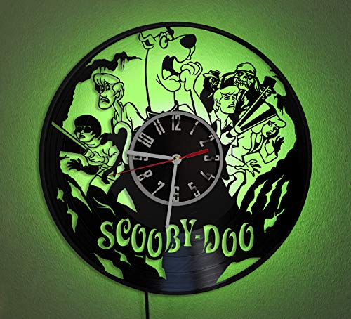Scooby-Doo LED LIGHT Vinyl Record Wall Clock Wonderful Handmade Gift Amazing Home Décor Night Light Night Lamp