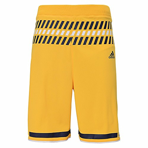 adidas Michigan Wolverines NCAA Yellow Official Alternate Replica Basketball Shorts for Youth (M)