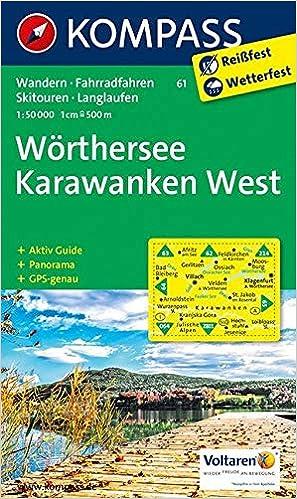 Kompass Wanderkarte Worthersee Karawanken West Wanderkarte Mit