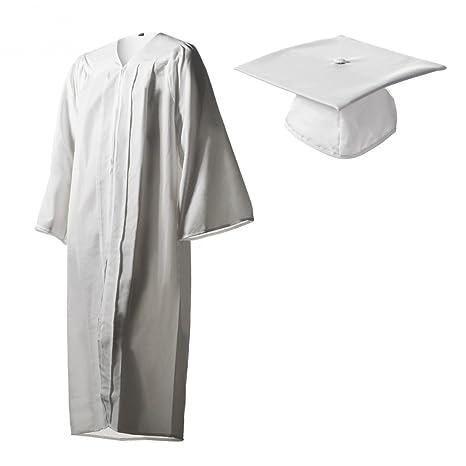 2f273243ec8 Matte White Graduation Cap and Gown Set in Multiple Sizes (24 (2 10 quot