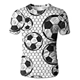 Flame Over The Calf Soccer Men Slim Fit Short Sleeve Sport T-Shirt T-shirt Tops