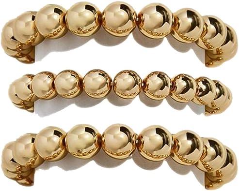 14K Gold filled Gold beaded long necklace Gold stackable bracelets Statement gold bracelets Gold bohemian bracelet Gold beaded bracelet