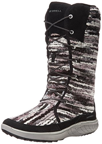 Merrell Women's Pechora Sky Winter Boot, Black, 9 M US