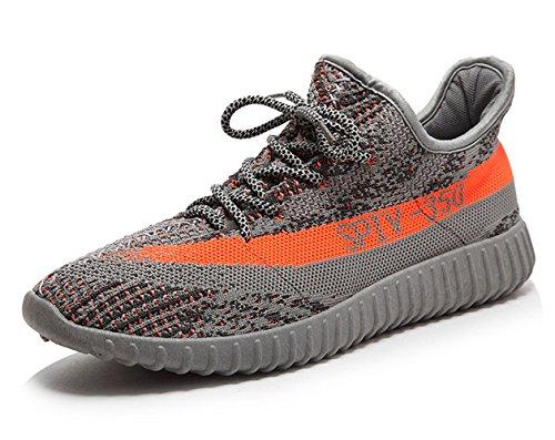Barvor Herren Damen Fashion Sneakers Leichtes Paar Atmungsaktive Sportschuhe Grau / Orange