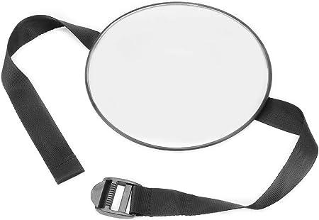 Espejo de seguridad para bebés ajustable para un fácil posicionamiento en los cabezales de los asien
