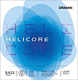 upright double bass 3 4 - D'Addario Helicore Hybrid Bass Single G String, 3/4 Scale, Light Tension