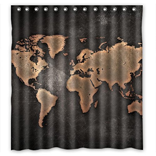 O! My Pillow Distinctive world map Shower Curtain Measure 66