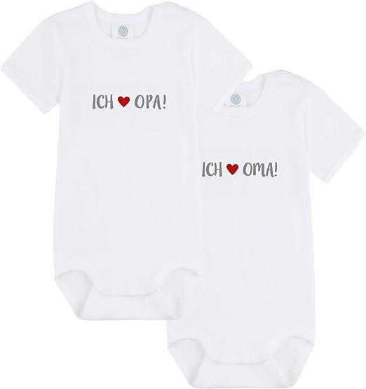 I Love Papa Bio Baumwolle im Doppelpack Sanetta Unisex Body I Love Mama