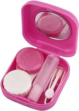 Heaviesk - Estuche para Lentes de Contacto (plástico, con Espejo): Amazon.es: Electrónica