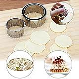 SaveStore 3pcs Dumpling Mold Dumpling Maker Ravioli Maker Pastry Tools Stainless Steel Dough Press Cutter Kitchen Tool