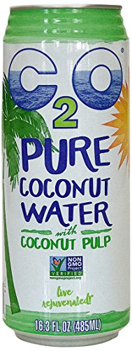 C2O Pure Coconut Water with Pulp, 16.3 Fluid Ounce (Pack of (Coconut Juice Pulp)