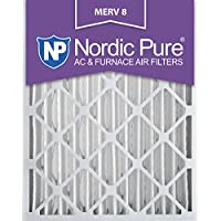 Nordic Pure 16x20x4 (3-5/8 Actual Depth) MERV 8 AC Furnace Air Filter, Box of 6