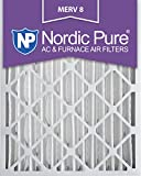 nordic pure 20x25x4m8 2 merv 8 pleated ac furnace air filter 20x25x4 box of 2