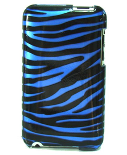 Luxmo VGiPod23ZBLU Apple iPod Touch 2nd & 3rd Generation Design Protector Case (Blue Zebra)