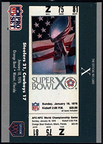Football NFL 1990-91 Pro Set Super Bowl 160 #10 SB X Ticket (Ball Ticket)