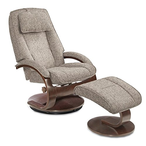 Cheap Mac Motion Oslo Swivel Recliner and Ottoman in Gray