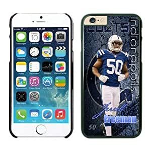 NFL iPhone 6 Plus 5.5 Inches Case Indianapolis Colts Jerrell Freeman Black iPhone 6 Plus Cell Phone Case ONXTWKHB1952