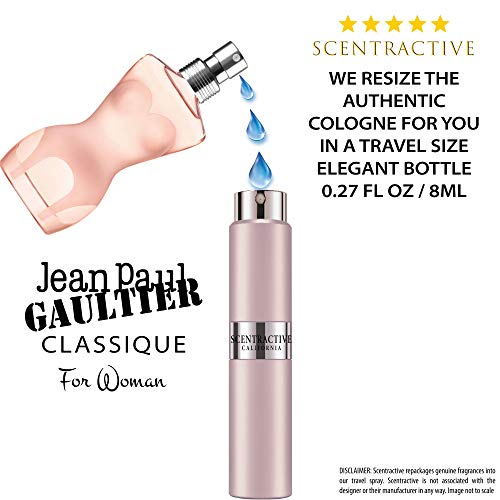 - Jean Paul Gaultier Classique Eau de Toilette Spray Travel Mini Size 8 ml / 0.27 Fl Oz