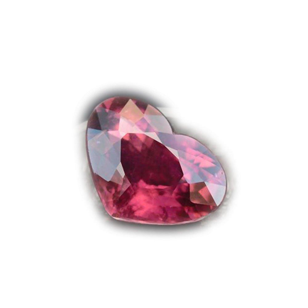 4.57ct Natural Heart Reddish Purple Rubellite Tourmaline Mozambique #AB