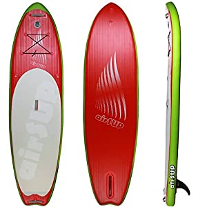 """Stand Up Paddleboard Inflatable 10 foot SUP 32"""" wide = stable 6"""" thick = rigid Super Light airSUP , our lightest and stiffest 10' SUP 30% lighter! by airSUP"""