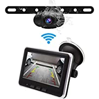 Accfly Wireless Backup Camera Kit,IP68 Waterproof License Plate Reverse Rear View Back Up Car Camera,4.3 TFT LCD Rear view Monitor for Cars, SUV, RVs
