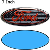 "For Ford Emblem Front Grille Emblems 9""X3.5"" Tailgate Badge Replacement for F-150 2004-2014, F-250/ F-350 2005-2007,Edge…"
