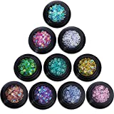 PINPAI Nail Art Rhinestones, 3.8mm Color Resin Crystal AB Round Rhinestone Decorations Manicure 3D Nail Art Decoration, 10 Colors, Non Hotfix