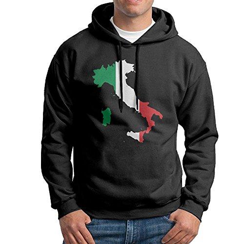 - Italia Italy Italian Map Boys' Blacklong Sleeve Hoodie Sportswear XXL