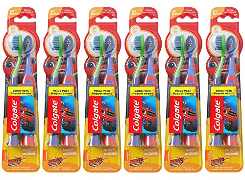 Colgate Kids Soft Toothbrush with Suction Cup, Blaze Value Pack - 2 Count (6 Pack)