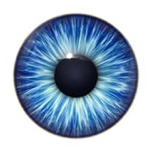 alfombrilla de ratón Textura del azul de los ojos - ronda - 20cm