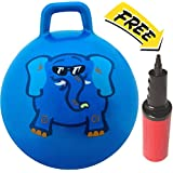 WALIKI TOYS Hopper Ball Jumping Hopping Hippity Hop Ball For Kids Ages 3-6 (Pump Included, 18 inches, Blue)