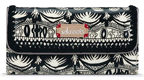 Trifold Wallet black/White One World, One (Boutique Designer Wallet)