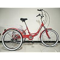Adulte pliant Tricycle, roues de 61cm, 6vitesses Shimano Gears, adulte Tricycle, disponible en différentes couleurs