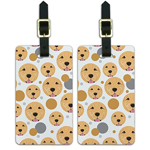 Graphics & More Luggage Suitcase Carry-on Id Tags-Dog Puppy-Golden Retriever Face, White